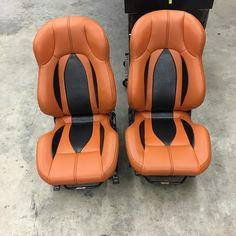 Seats are done except for some tiburon medallions custom brown and black interior
