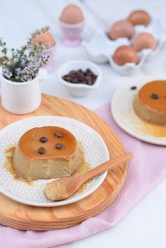Coffee Flan Flan, Muffins, Pancakes, Ice Cream, Coffee, Breakfast, Sweet, Desserts, Sweet Recipes
