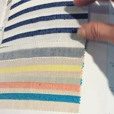 Don't worry, we are shopping for spring/summer fabrics for you as well. 😍😭 over these slubby cotton blend stripes! Sewing Terms, Sewing Patterns, Emmaline Bags, Flat Felled Seam, Shorts Tutorial, Place Mats Quilted, Slouchy Beanie, Pants Pattern, Sewing Projects
