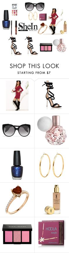 """Burgundy Outfit (Contest Entry )"" by jelly12-861 ❤ liked on Polyvore featuring Gianvito Rossi, Alexander McQueen, OPI, Bobbi Brown Cosmetics, Kylie Cosmetics and Hoola"