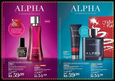 Presente AVON ALPHA FOR HER  venda somente:  KIT AVON ALPHA FOR HER E SOMENTE A COLÔNIA AVON ALPHA FOR MEN.
