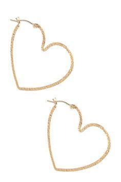 Vivian Tamayo Heart Hoop Earrings