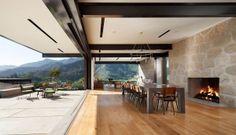 indoor outdoor living in montecito foothills.