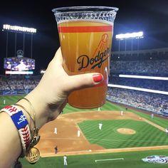 THINK BLUE: It's time for Dodgers baseball! #ITFDB #LosAngelesDodgers #LosAngeles #Dodgers #LADodgers #FNF #LA #WeLoveLA #BoysInBlue #DodgerStadium #JackieRobinson #Jackie42 #Kershaw #Puig #Baseball #Beer #ShockTop #AlexandAni #LAGirl by dzhand