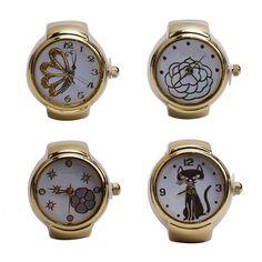 Elastic Steel Round Finger Ring Quartz Creative 1 Pcs Popular Watches Girl New  | eBay