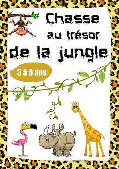Chasse au trésor sur le thème des animaux de la jungle !!