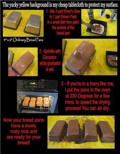 How to prim the loaf pans.....