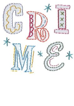 Oh please . . . do not let me get addicted to another craft!! These letters for embroidery are adorable though . . .
