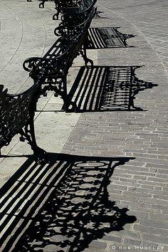 Park Bench Shadows