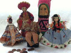 Set of 5 international costumed dolls - vintage collection. $40.00, via Etsy.