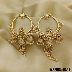 Jewelry OFF! Jhumki Style with Wedding Earrings. Rama Creations Manufacturer Wholesalers of Artificial Fashion Jewellery in India. Indian Jewelry Earrings, Indian Jewelry Sets, Jewelry Design Earrings, Bride Earrings, Ear Jewelry, Bridal Jewelry, Wedding Earrings, Gold Earrings, Bridal Bangles