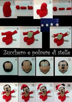 Christmas Baby Mickey Mouse with Tutorial Cake by ZuccheroeStelle seen at cakesdecor