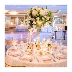 Loving this wedding reception with florals by captured by ❤️ Talk about romantic! Chic Wedding, Wedding Reception, Hello Beautiful, Event Design, White Lace, Florals, Romantic, Events, Table Decorations