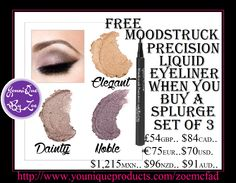 FREE Moodstruck Precision Liquid Eyeliner When you buy a Splurge Set of 3 December Kudos // December 1-31, 2015 #younique #uk #england #australia #newzealand #mexico #germany #USA #america #canada  #splurge #splurgecreamshadows #creamshadows #liquideyeliner #eyeliner