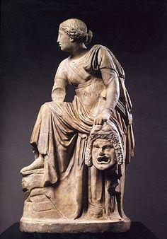 Melpómene, Musa de la Tragedia. Siglo I d. C.