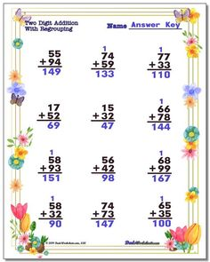 These Spring worksheets for color-by-number, addition, subtraction, multiplication and division math problems in printable PDF format will sweeten up your math practice for March! Free Printable Math Worksheets, Number Worksheets, Printables, Division Math Problems, Math Division, Multiplication And Division Worksheets, Addition And Subtraction Worksheets, Simple Math, Basic Math