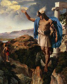 World Mythology, Classical Mythology, Greek And Roman Mythology, Hermes Mythology, Greek Paintings, Roman Gods, Greek Gods And Goddesses, Roman Art, Greek Art