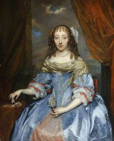 Portrait of a Lady in a Blue Satin Dress by Gonzales Coques Date painted: 1640–1684