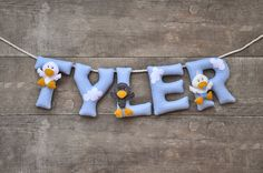 Felt name banner Duckling nursery decor by DreamCreates on Etsy