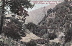 LOS ANGELES , California , 00-10s : Horseshoe Curve , Mt Lowe Division Pacific Electric Railway