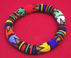 Colorful beaded handmade bracelets from Africa - Handcrafted in Africa