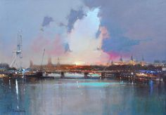 London Eye and Hungerford Bridge by Peter Wileman FROI RSMA FRSA