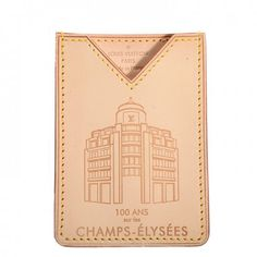 This is an authentic LOUIS VUITTON Vachetta Champs Elysees Card Holder- NEW. This chic card holder is crafted of Louis Vuitton signature vachetta leather with an historic advertisement logo embossed on the face.