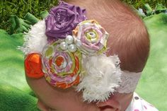 Shabby  Chic Headband by WillowFayesCloset on Etsy, $15.00