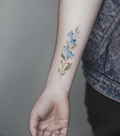Floral forearm piece by Tritoan Ly