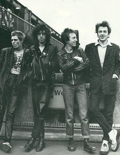 Paul,Mick,Topper and Joe of the Clash.