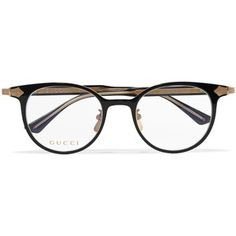 17aad17d3 Gucci Gucci - Round-frame Acetate And Gold-tone Optical Glasses - Black
