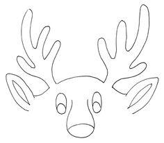 Reindeer Antlers Coloring Pages