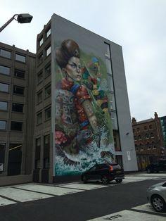 Building in Liverpool, amazing graffiti.