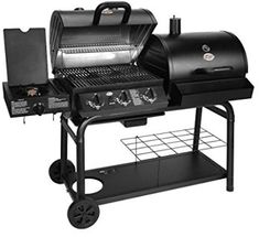 Char-Griller 5050 Duo Gas-and-Charcoal Grill. Every grill lover's dream! Charcoal and gas grilling all in one grill! The Char-Griller® Duo provides sq. of BBQ grilling and smoking space. Add the side fire box for great Texas style smoking. Best Smoker Grill, Barbecue Grill, Gas And Charcoal Grill, Charcoal Bbq, Charcoal Smoker, Grill Sale, Best Gas Grills, Propane Gas Grill, Gas Bbq