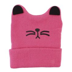 a2b3cb7354a 0-3Y Baby Winter Hat Baby Girl knitted Cat Hat Baby Boys Knitted Woolen  Skull