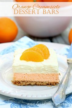 My husband is a huge fan of both Jell-O and Orange Creamsicles, so I knew he'd love this dessert. It really does taste like an Orange Creamsicle, and with su. Jello Desserts, Summer Desserts, No Bake Desserts, Dessert Recipes, Dessert Ideas, Yummy Recipes, Orange Creamsicle, Orange Jello, Orange Zest