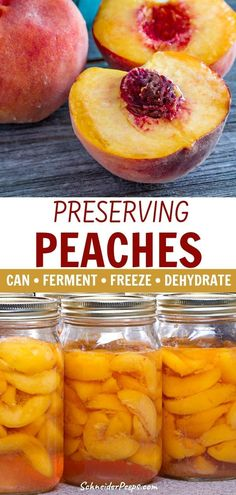 Preserving peaches is an annual event here. We preserve them by canning, freezing and dehydrating so we can have a variety throughout the year. Canning Recipes, Raw Food Recipes, Jar Recipes, Freezer Recipes, Freezer Cooking, Drink Recipes, Health Recipes, Preserving Food, Preserving Peaches