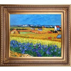 Shop for La Pastiche Original 'Harvest with Irises Collage' Hand-painted Framed Canvas Art. Get free delivery at Overstock.com - Your Online Art Gallery Store! Get 5% in rewards with Club O!