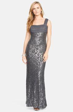 Lauren Ralph Lauren Gown Sequin Lace Mercury Shine. Taille 42 - 44. Ref: 2130/42