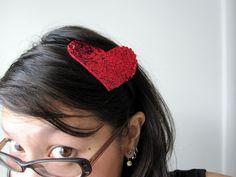 Rae Gun Ramblings: Tutorial: Sequined Heart Headband