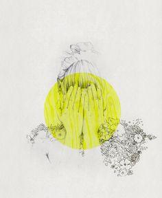 """No Point Crying Over Dropped Flowers"" by Lília Felizardo, via Behance"