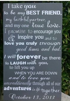 Romantic Wedding Vows Examples For Her and For Romantic Wedding Vows, Perfect Wedding, Wedding Ceremony, Our Wedding, Dream Wedding, Trendy Wedding, Wedding Venues, Gift Wedding, Wedding Vows To Husband