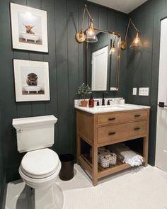 Hall Bathroom, Upstairs Bathrooms, Bathroom Kids, Bathroom Renos, Basement Bathroom, Little Boy Bathroom, Vanity Bathroom, Shiplap Bathroom Wall, Country Bathrooms
