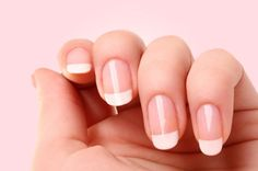 Gel Manicure -- rounded, French tip (though mine are usually shorter than this...)