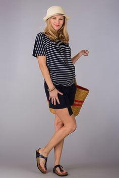 Sportovní černé těhotenské kraťasy s kapsami Short Sleeve Dresses, Dresses With Sleeves, Vintage, Style, Fashion, Gowns With Sleeves, Moda, Sleeve Dresses, Stylus