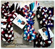 you can upcycle and repurpose t shirts into jump ropes