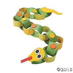 Snake Paper Chain Craft Kit - Less Than Perfect - Discontinued Vbs Crafts, Paper Crafts For Kids, Camping Crafts, Preschool Crafts, Bible Crafts, Bead Crafts, Easy Craft Projects, Craft Kits, Craft Ideas