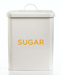 Martha Stewart Collection Food Storage Canister, Vintage - Kitchen - for the home - Macy's - Yellow