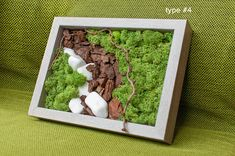 Items similar to Custom Reindeer preserved moss picture wooden frame natural forest art hanging decoration living plant bark stones tree branch gift for her on Etsy Terrariums, Miniature Zen Garden, Moss Plant, Moss Wall, Moss Garden, Forest Art, Wooden Planters, Plant Wall, Hanging Art