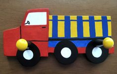 35.00 estyConstruction Truck Clothes Hanger Truck by simpletreasures4you